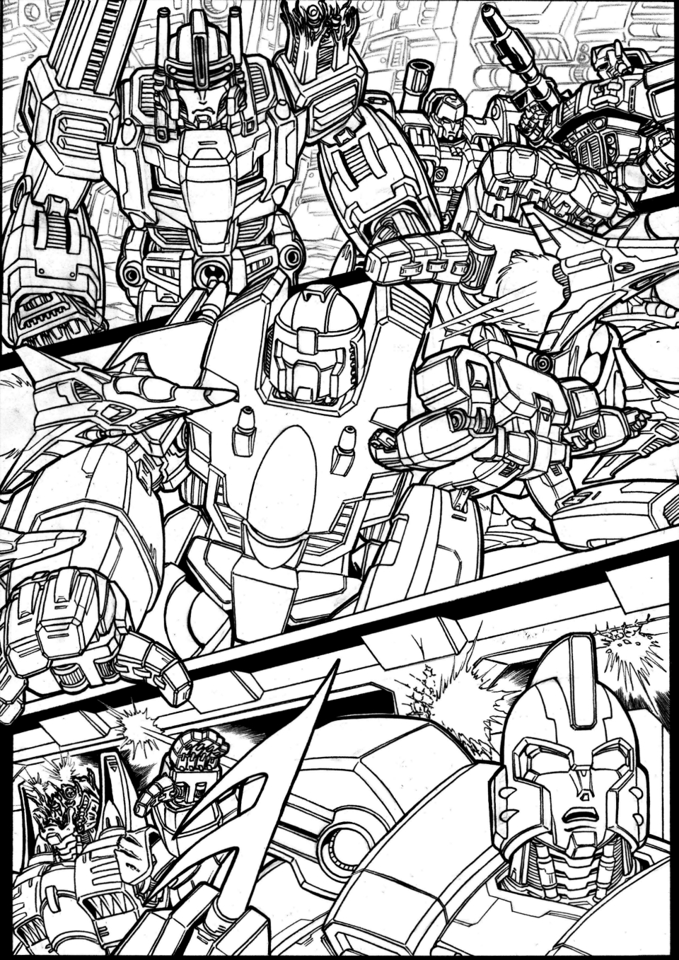Wrath Of the Ages 6 - page 15 - lineart preview