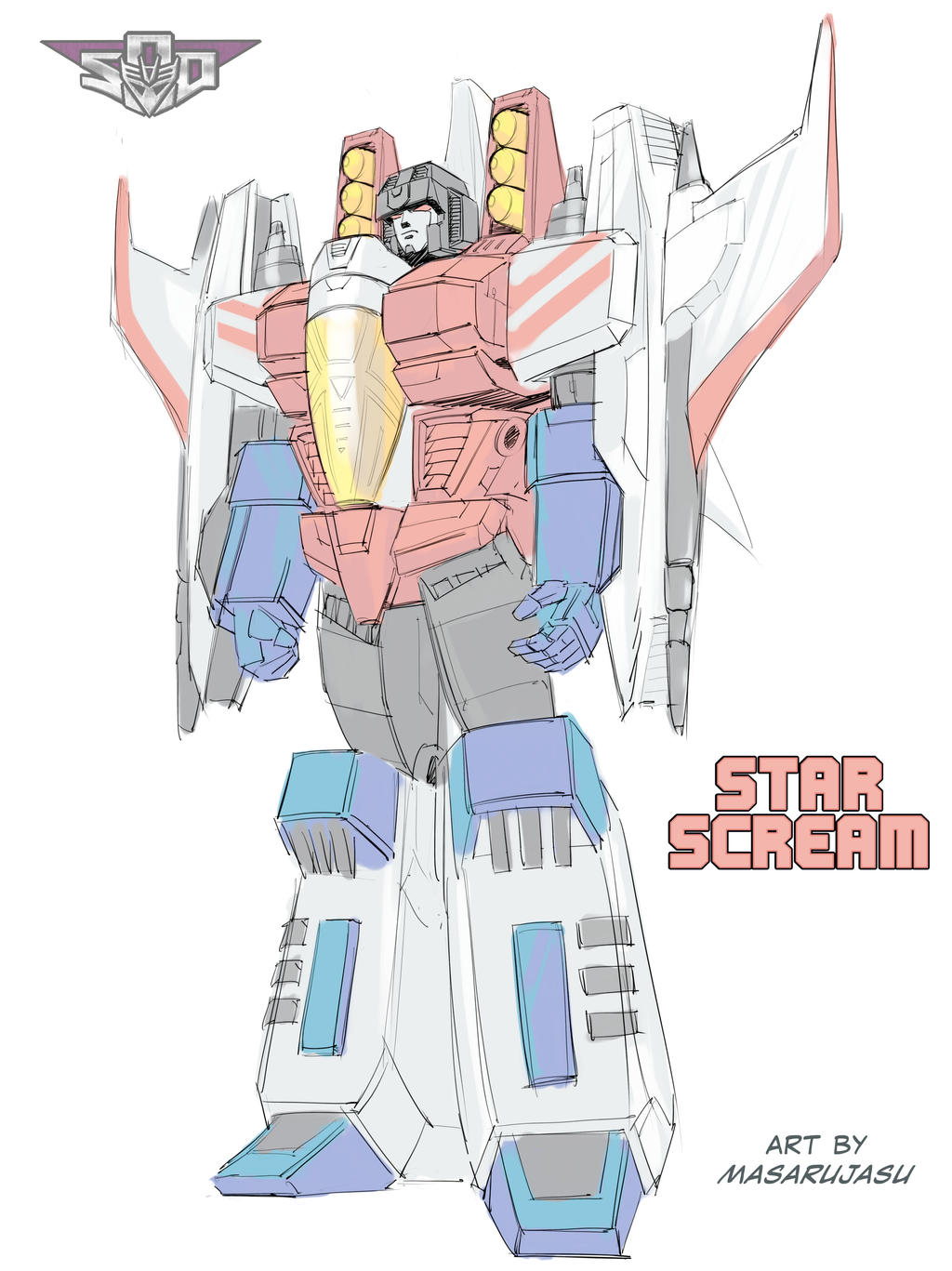War Within Starscream study for cover
