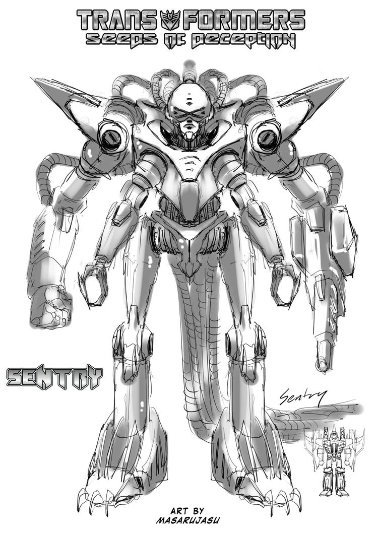 SoD Starscream - Art for The Sentry by Tf-SeedsOfDeception