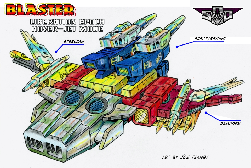 SoD Blaster - Cassettes  combined hover-jet mode by Tf-SeedsOfDeception
