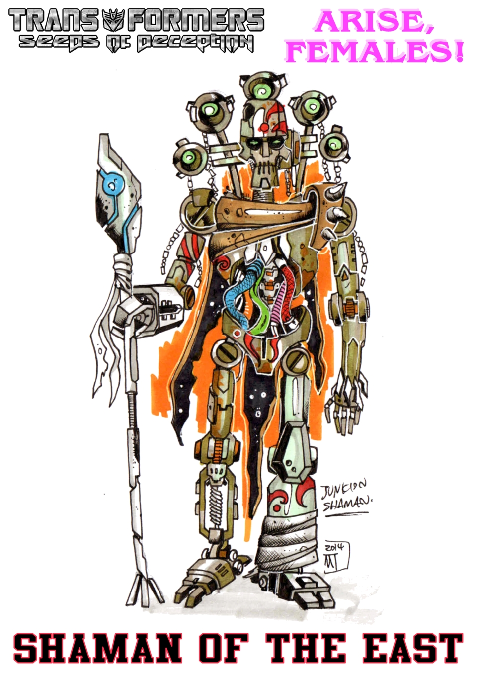 Junkion Shaman Of The East study for AF by Tf-SeedsOfDeception