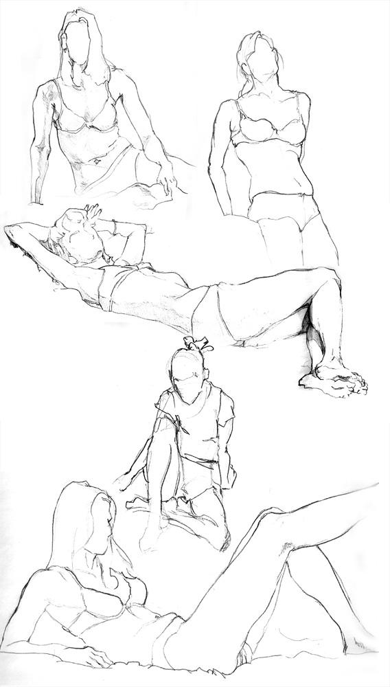 Female Anatomy Sketches By Faceone38 On Deviantart