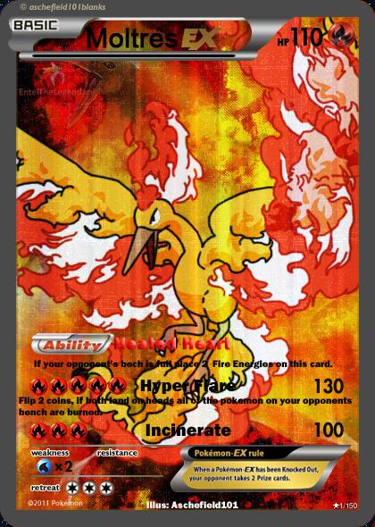 Moltres Ex Card