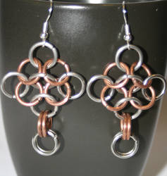 Long cross earrings