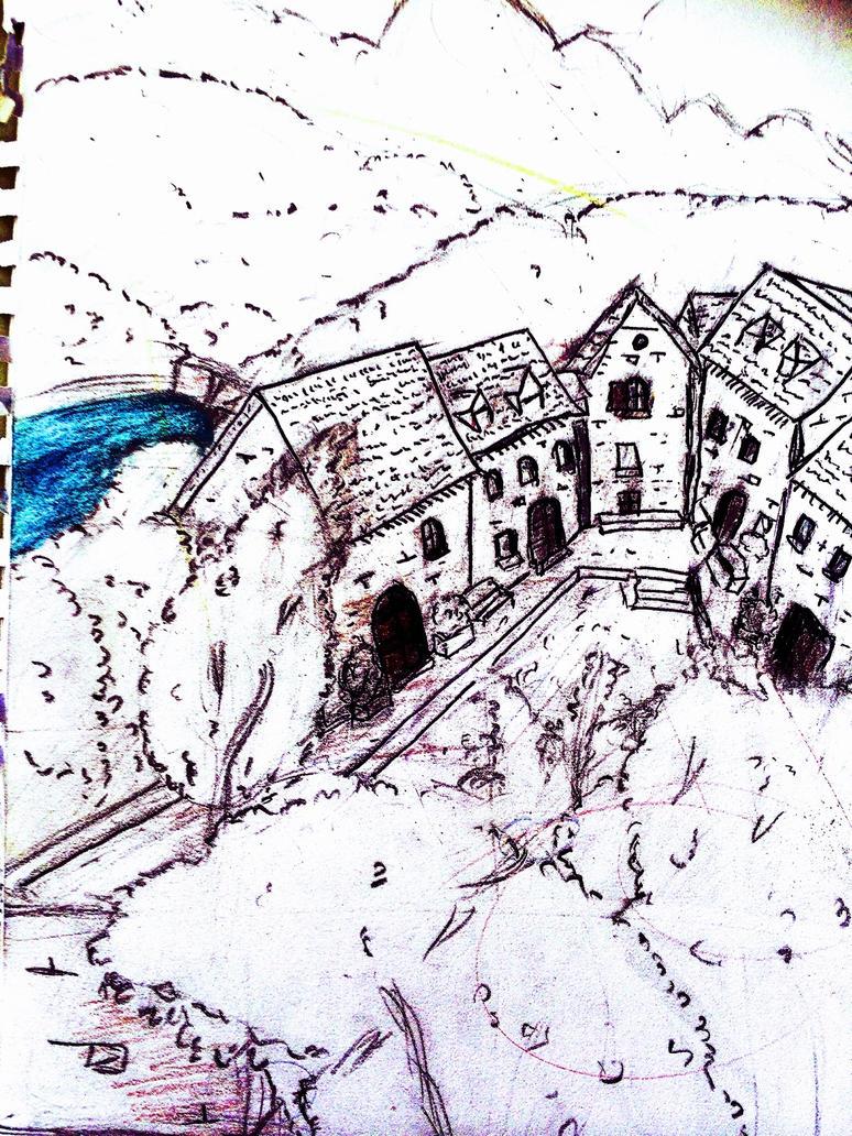 Doodle bubal town by yolandadelaplaz