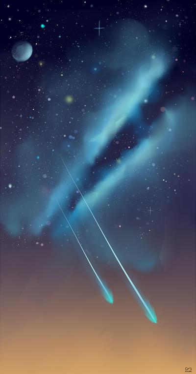 Night Sky by Caronta
