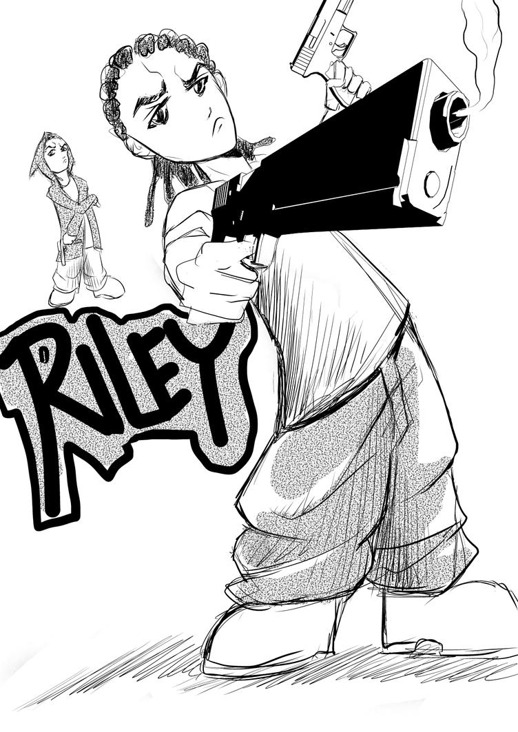 the boondocks riley coloring pages - photo#36