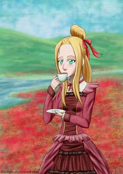 Tea time in a poppy field (gift)