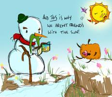 Grumpy Old Snowman Knows Best by rhinestoner