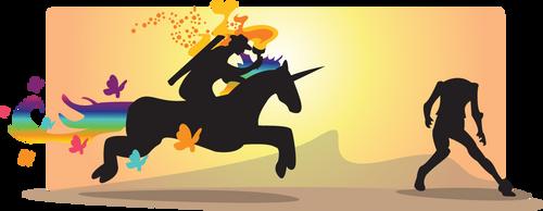 Undead Unicorn Attack by rhinestoner