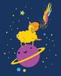 Ewenicorn in Space by rhinestoner