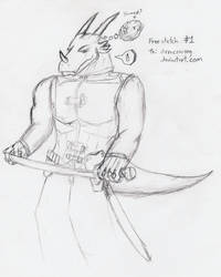 Free Sketch 1 - Drracowong by DDStuff