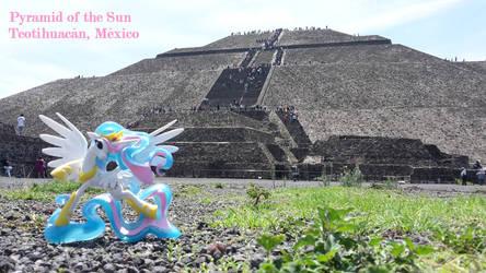 Princess Celestia at the Pyramid of the sun