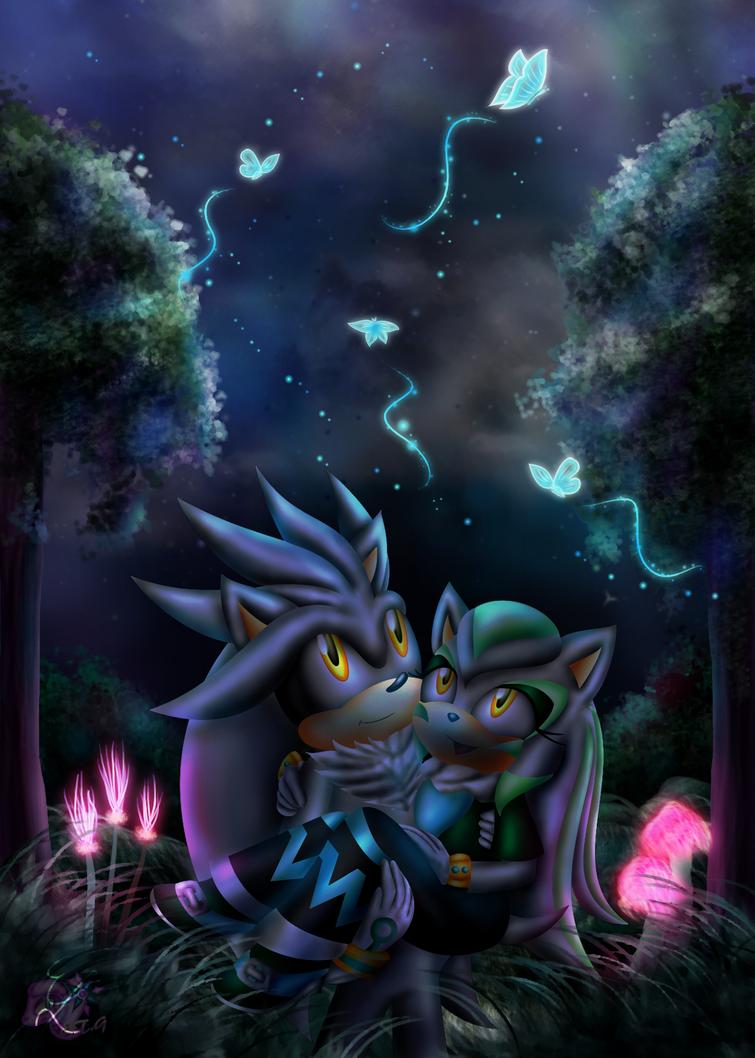 Sous les papillons dans le clair de lune by Azurelly