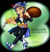 FF VI - Locke Cole by Azurelly