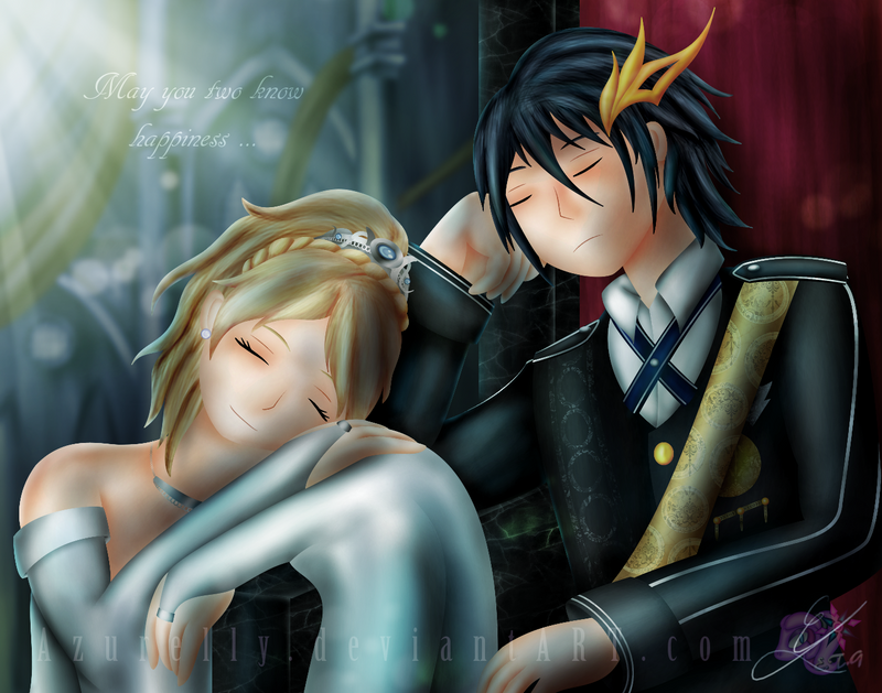 FF XV Noctis and Luna by Azurelly