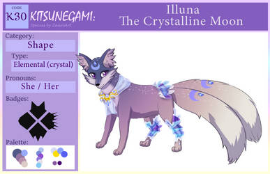 Kitsunegami Moon Crystal Id Card by Azurelly