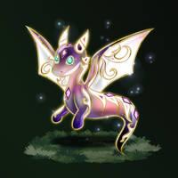 Crystal dragon Orion dawn by Azurelly