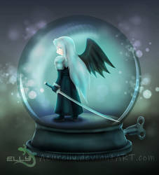 Snowglobe of the One-Winged Angel