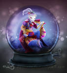 Snowglobe of the lunatic Jester by Azurelly