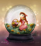 Snowglobe: Aerith by Azurelly