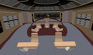 2nd picture WIP Galaxy Class Bridge by barklay80
