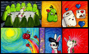 Wallet paintings 2 by FrealaF