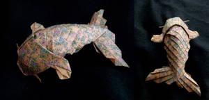 Koi paper fish