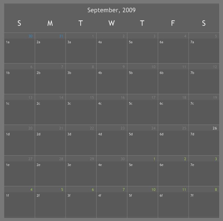 Calendar Notes by r3ginald