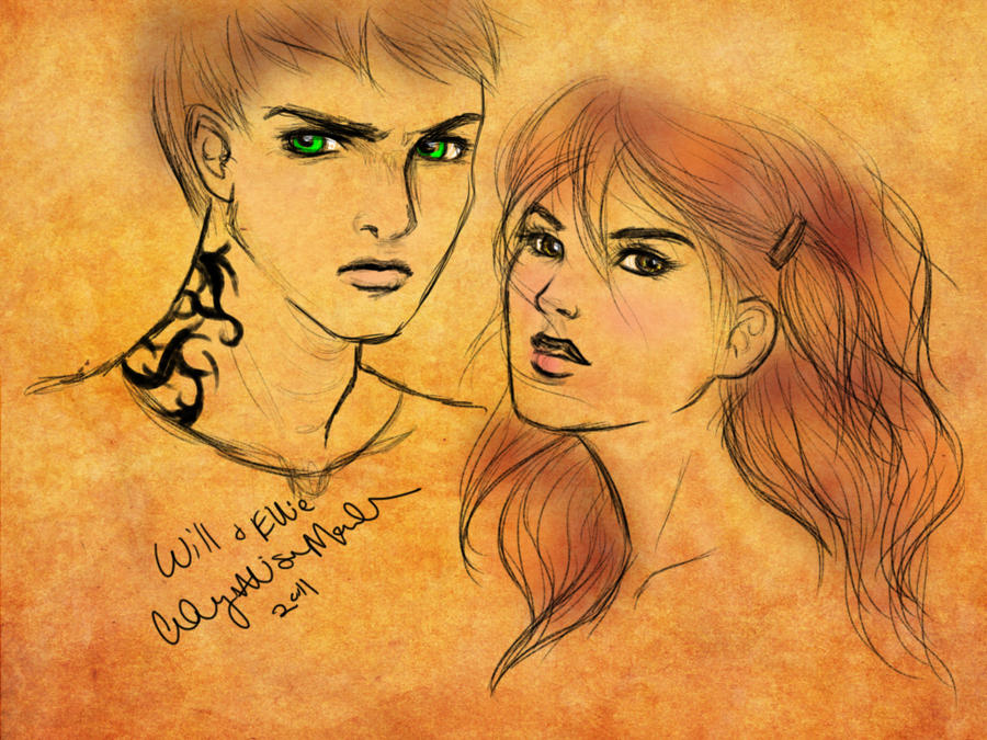 ANGELFIRE Art: Ellie and Will by courtneyallison