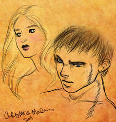 ANGELFIRE Art: Kate and Marcus by courtneyallison