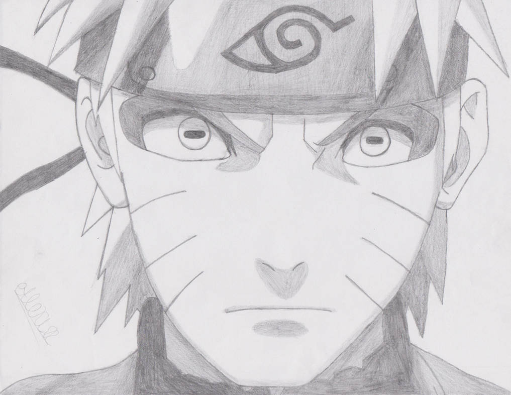 Drawing Of Naruto Under Town