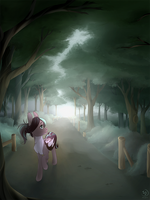 Commission - Morning Walk by Brownie97