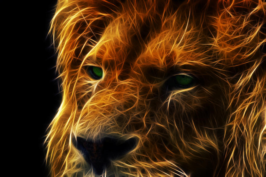 Fractalius Lion by megaossa