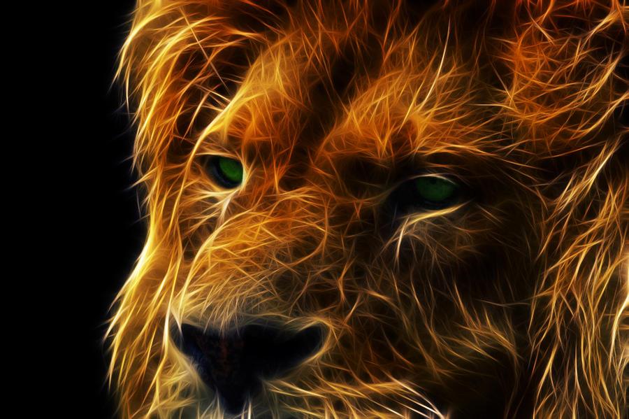 Fractalius Lion by megaossa