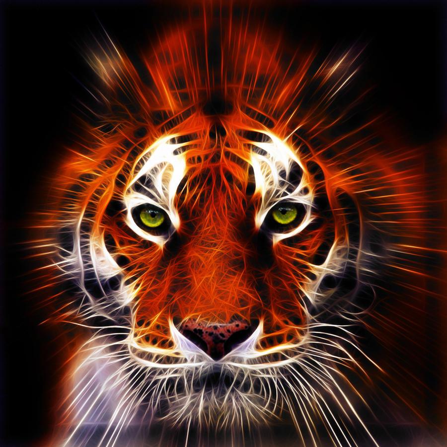 Fractalius tiger by megaossa