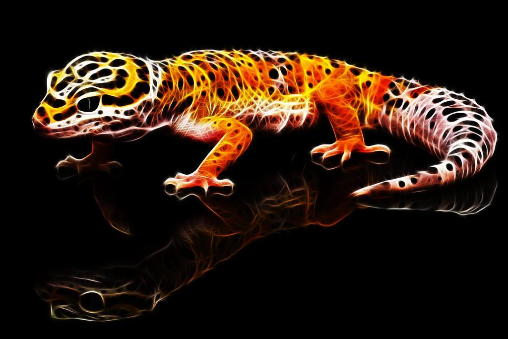 Fractalius Leopard Gecko by megaossa
