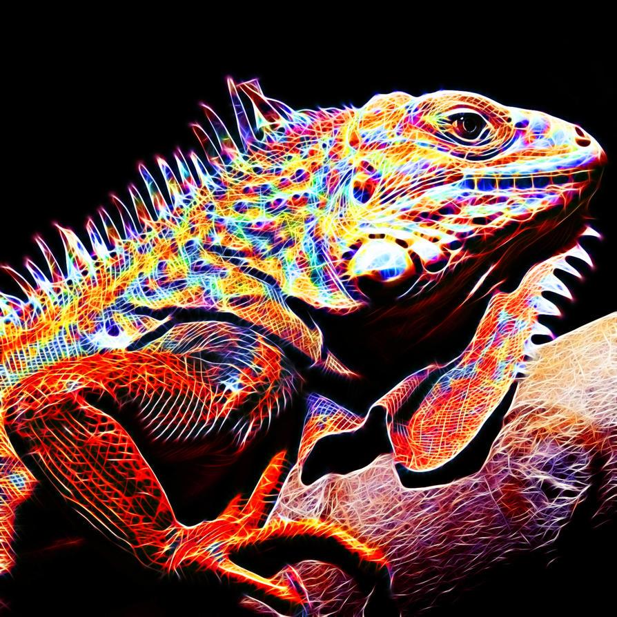Colored Fractalius Lizard by megaossa on DeviantArt