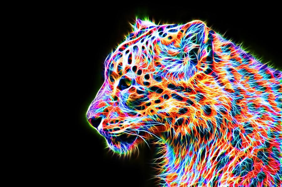 Colorful Leopard VIII by megaossa on DeviantArt
