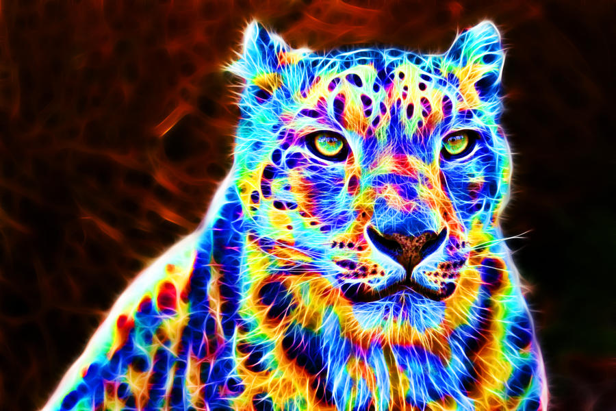 Colorful leopard XIII ... Rainbow Cheetah Wallpaper