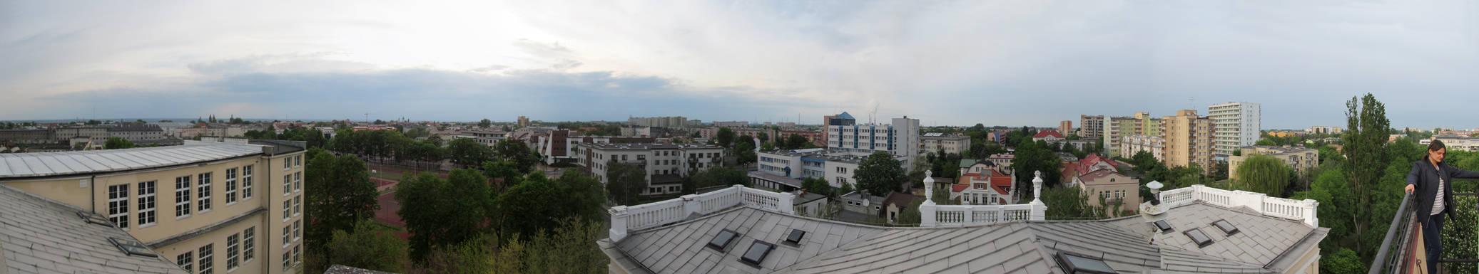 Widok z  Jagielonki w Plocku