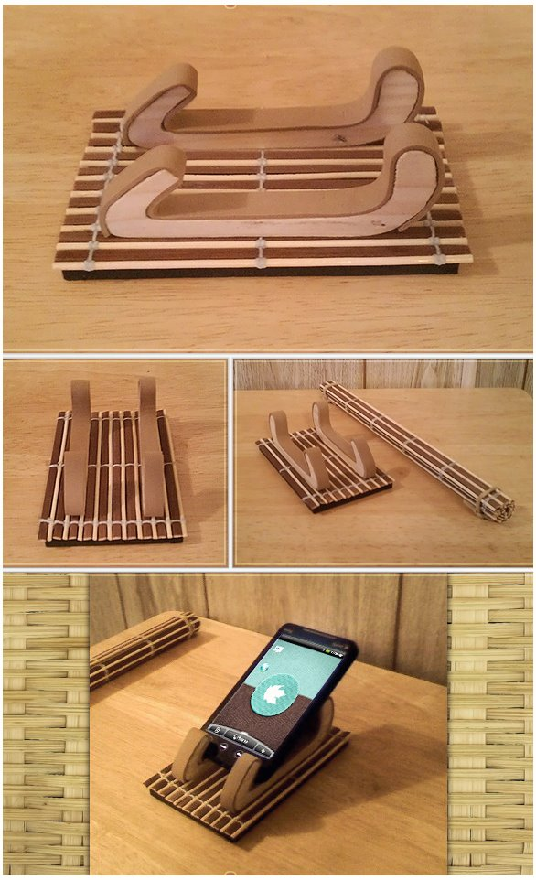 Bamboo Phone Cradle by TheAL
