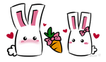 Bunnies on Valentines Day
