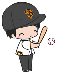 PK Loves Baseball by kyupi