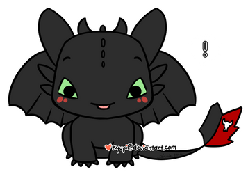 Toothless by kyupi