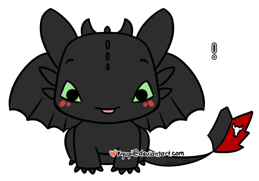 Toothless by kyupi