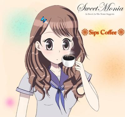 Sips Coffee by SweetMonia