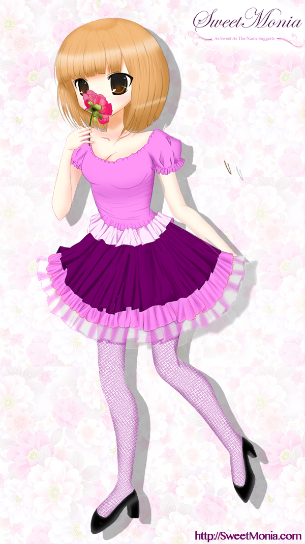 Flowery Lolita by SweetMonia