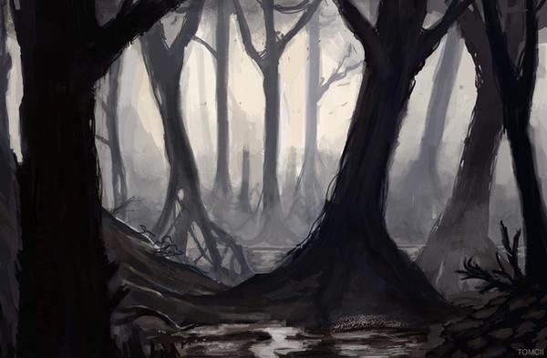 Swamp Sketch by Tom-Cii