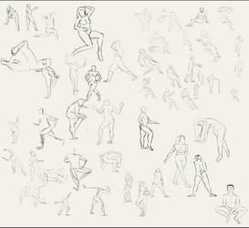 Sketch of The Day #4 - Gesture Drawings by Tom-Cii